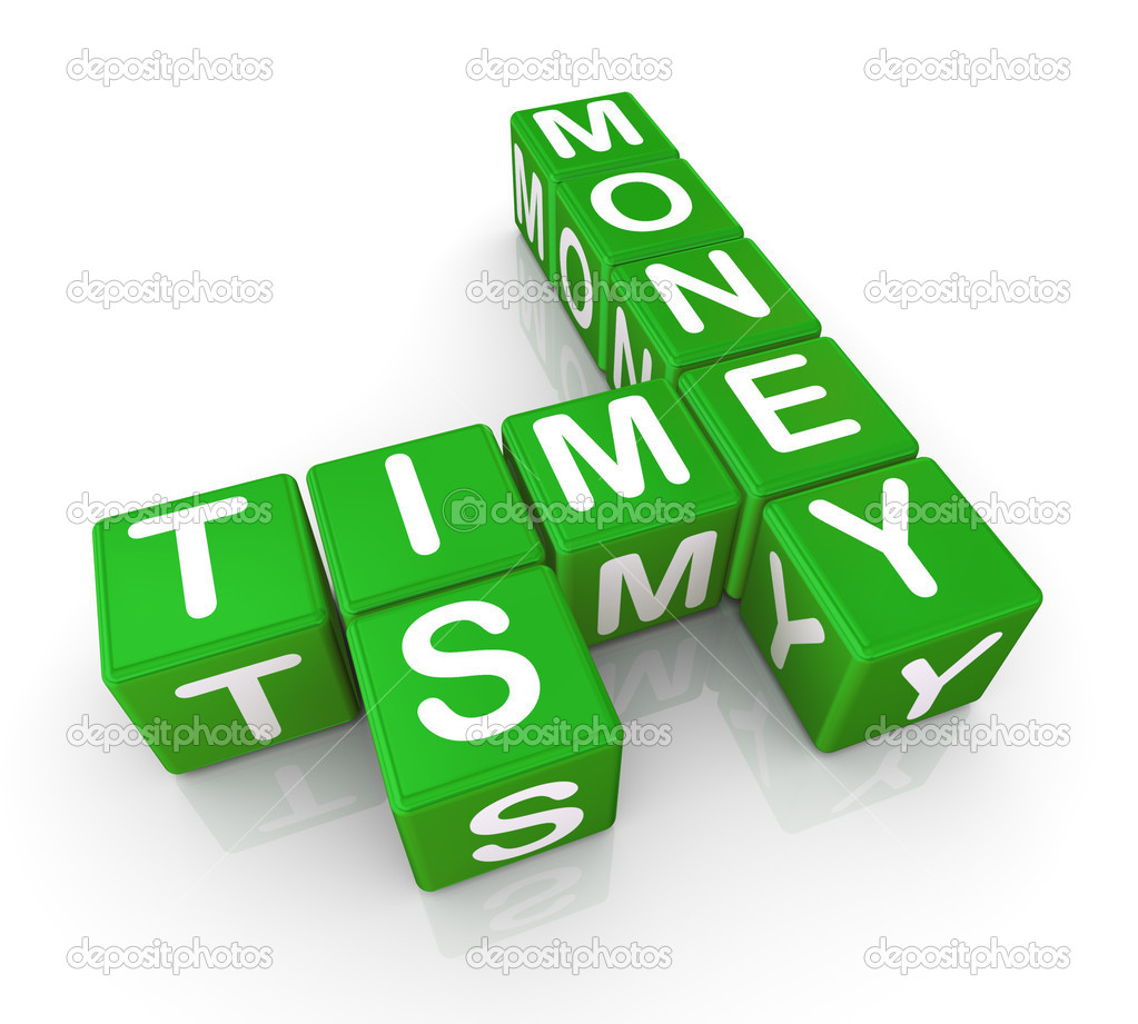 3d render of crosswords 'time is money' — Stock Photo #9177983