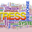 Stress wordcloud - Stock Photo