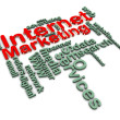 Stock Photo: 3d internet marketing wordcloud