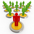3d concept of leadership — Stock Photo #9417453