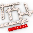 Crossword of success — Foto Stock