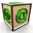 3d email sign cube — Foto Stock