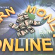Stock Photo: Making money online