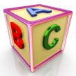 3d colorful abc cube — Stock Photo