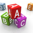 3d colorful abc boxes — Stockfoto