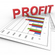 3d text profit on chart - Stock Photo