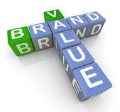 Crucigrama de valor de marca — Foto de Stock