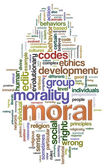 Moral wordcloud — Stock Photo