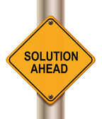 Solution ahead — Stock Photo
