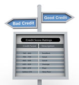 Good credit - bad credit — Stock Photo