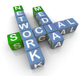 3d social media network — Stock Photo