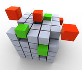 3d abstract cubes — Stock Photo