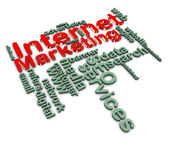 3d internet marketing wordcloud — Stock Photo