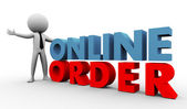 Ordem online 3d — Foto Stock