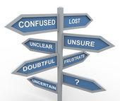 Confusa e perdida — Foto Stock