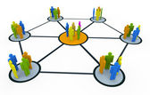 Group netwerk — Stockfoto