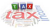 Impuesto de texto buzzword 3d — Foto de Stock