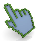 3d hand mouse pointer — Stock Photo