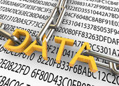 3d concept of data security — Stock Photo