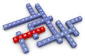 Kruiswoordraadsel van bedrijf — Stockfoto