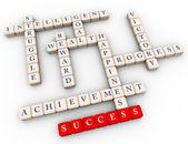 Palavras cruzadas de sucesso — Fotografia Stock