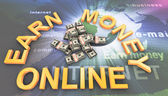 Making money online — Stock Photo