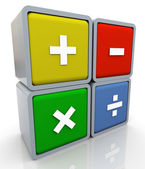 Segni di operazione matematica 3d — Foto Stock