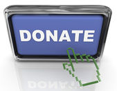 3d donate button and pointe — Stock Photo