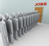 3d men Job search — Stock Photo