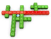 Kruiswoordraadsel communicatiemiddelen — Stockfoto