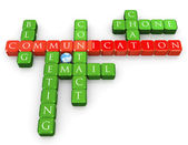 コミュニケーションのクロスワード — ストック写真