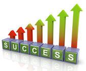 3d-succes pijlen — Stockfoto