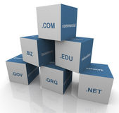 3d domain extension pyramid — Stock Photo