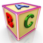 3d colorful abc cube — 图库照片
