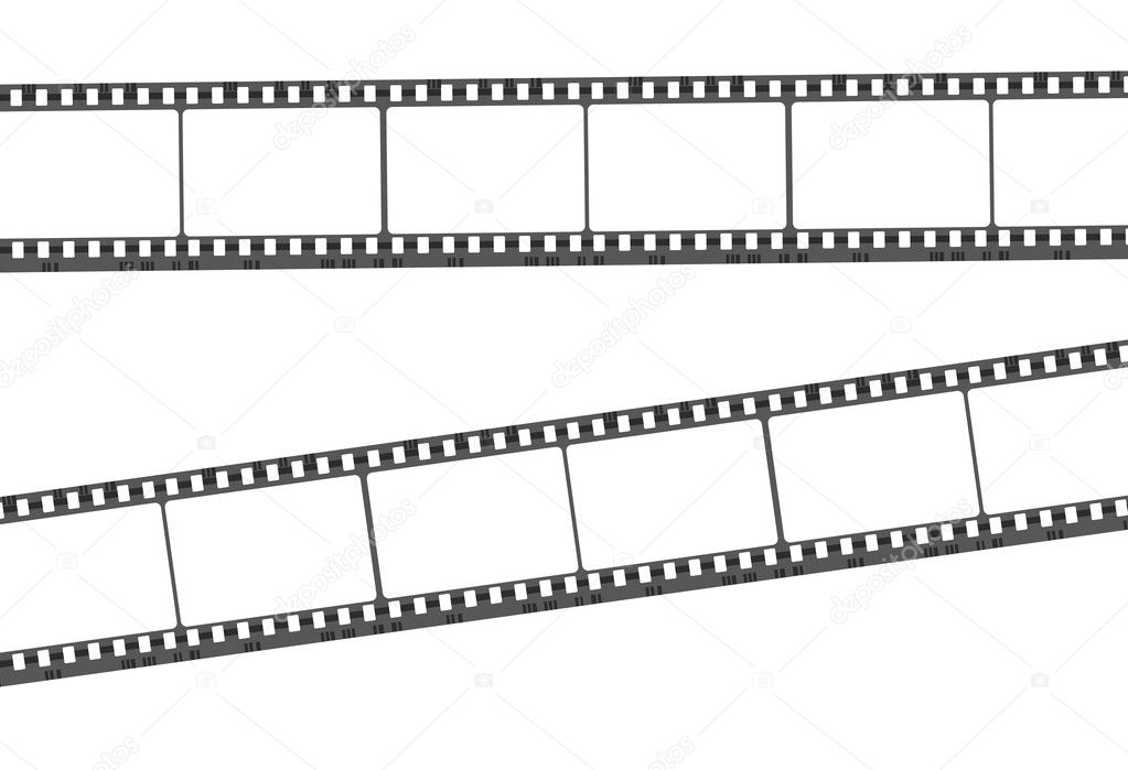 Illustration of blank film strip on white background — Stock Photo #9417117