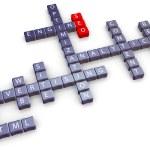 Seo crossword — Stock Photo
