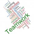 Teamwork wordcloud — Stock Photo