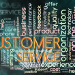 Stock Photo: Wordcloud of customer service