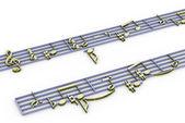 3d music notation — Stock Photo