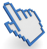 3d hand cursor — Stock Photo