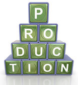 3d production pyramid — Stockfoto