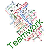 Trabajo en equipo wordcloud — Foto de Stock