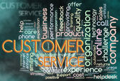 Wordcloud of customer service — Stock Photo