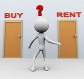 Compra o alquiler — Foto de Stock