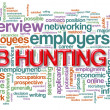 Wordcloud of job hunting — Stockfoto