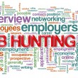 Wordcloud of job hunting — Stock Photo