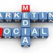 Foto Stock: Social medimarketing