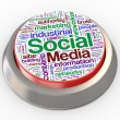 3d social media button — Stock Photo