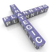 Palavras cruzadas de planejamento srategic — Foto Stock