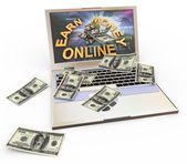 Concept of making money online — Stock Photo